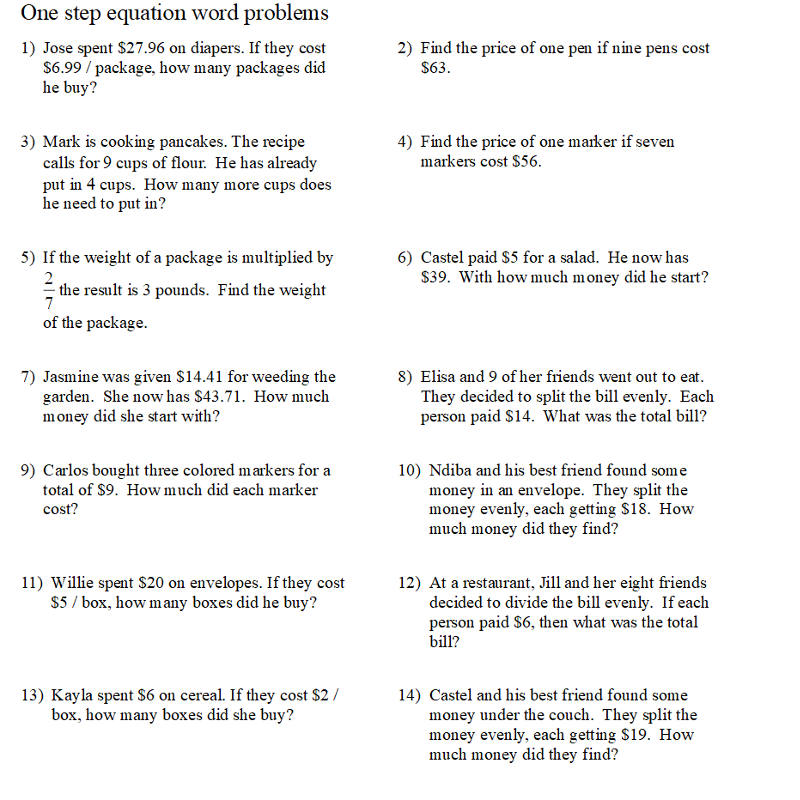 TP2-6 Unit 2 Solving Equations TEST PRACTICE PROBLEMS -